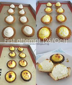 *** As of 3 May have baked 2 more batches of tarts with variations to the recipe. Visit http:& Bake Cheese Tart, Cheese Tarts, Tart Recipes, Sweet Recipes, Baking Recipes, Hokkaido Cheese Tart Recipe, Asian Cake, Korean Cake, Crinkles Recipe