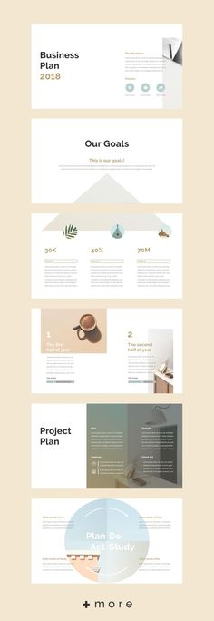 Keynote presentation design template: simple, business, plan