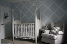 Blue and Gray Classic Nursery with Modern Accents