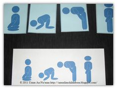 A Muslim Child is Born: Basic Salat Sequencing Cards for Toddlers