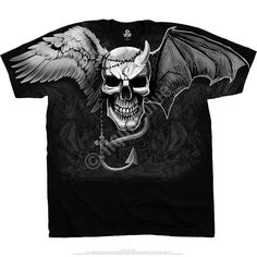 #Demon #Angel Graphic Tee by Liquid Blue Skull #DarkFantasy T-shirt #LiquidBlue #GraphicTee