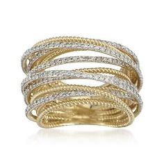 1.15 ct. t.w. Diamond Multi-Band Ring in 14kt Yellow Gold