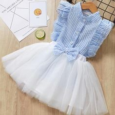 Girl Mesh Dress 2018 New Spring Dresses Children Clothing Princess Dress PinkWool Bow Design Years Girl Clothes DressChildren Summer Dress 2019 Casual Style Girls O-Neck Clothing Set White Lace T-shirt+Skirt Girls Sleeveless Suits Kids Clothes* Soft Baby Girl Party Dresses, Toddler Girl Dresses, Girls Dresses, Infant Dresses, Short Dresses, Kids Outfits Girls, Girl Outfits, Dress For Girl Child, Frack