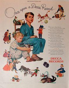 Vintage 1946 Decca Records Orig Magazine Print Ad The Saturday Evening Post Vintage Records, Vintage Ads, Vintage Posters, Vintage Stuff, Christmas Ad, Vintage Christmas, Saturday Evening Post, Great Ads, Sweet Pic