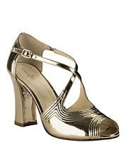 COLE HAAN Jovie Metallic Leather High-Heel Sandals