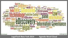 LegalTech NY 2014 Agenda Word Cloud (& Comparison to Past Years)