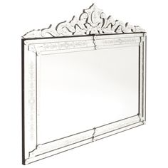 Large Horizontal Venetian Mirror