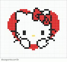 cute hello kitty cross stitch pattern