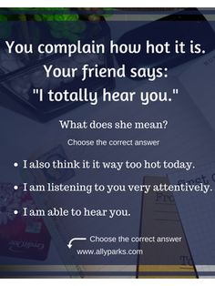 I hear you definition, English conversation, Speaking English, spoken English… English Lessons, Learn English, English English, English Vocabulary, English Grammar, English Language Learning, Idioms, Listening To You, Conversation