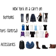 CANNOT BELIEVE I'M GOING... My packing list for a week in New York in winter.