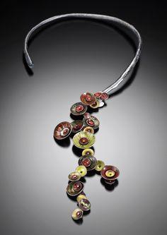 Neckpiece: Urban Garden Vine, 2010, Silver, copper, enamel,  16.5 x 5 x 1.3 cm by Brooke Battles --- dropVelvet da Vinci - crafthaus