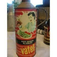 Aceite Comestible Vatel, en evase de lata,Venezuela años 70s y 80s