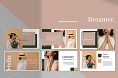 Dreamer - Keynote Presentation Template. Clean, modern and simple template. Professional presentation to show your portfolio & ideas. Oriental is a Modern and Stylish presentation. This template is professionally crafted for any product/event presentation and marketing ,also perfect for catalog or lookbook, this template is suited for any fashion, girlboss, ladypreneur, and other related business. #Keynote #presentation #slideshow #branding #marketing #minimal #promotion