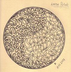 Zendala 039.  (Skillshare) Creative Ideas To Improve Your Drawing Skills Project - 04. Loose Petals.