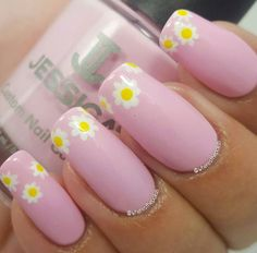 Pink Daisy from our Summer Jessica Custom Colour Collection! photo by @wheresthepolish (ig) #pinknails #nails #jessicacosmetics #summernails