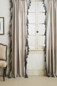 Ombre Lace Curtain #anthropologie -perfect layering element for neutral gray bedroom