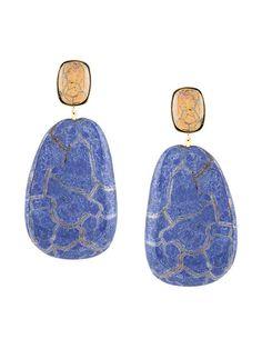ISABEL MARANT square ceramic earrings. #isabelmarant #