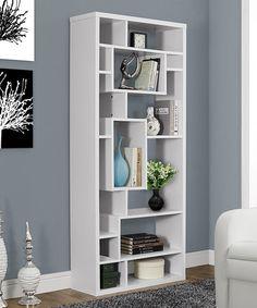 White Asymmetrical Bookcase