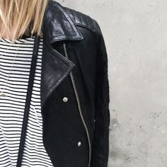 stripes and leather ☆