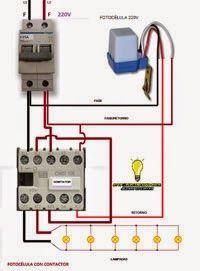 Esquemas eléctricos: Fotocélula con contactor