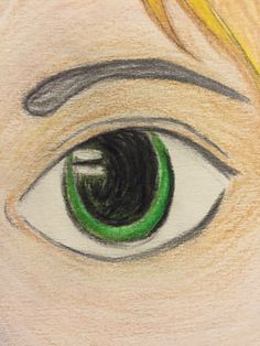 'Eye' don't know why I drew this but don't 'lash' out at me.