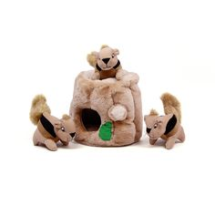 Outward Hound Hide-A-Squirrel Dog Toy Plush Dog Squeaky Toy Puzzle, 4 piece, Large ❤ Kyjen Pet Puppy, Pet Dogs, Beauceron Dog, Dog Playpen, Dog Puzzles, Puzzle Toys, Best Dog Toys, Interactive Dog Toys, Dog Supplies