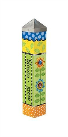 Garden Design Durable garden poles are innovative reproductions of original hand painted artwork. Simple messages with vivid color are displayed for a unique garden accent. Set garden poles near a pathway, by the f Peace Pole, Garden Poles, Sloped Garden, Organic Gardening Tips, Unique Gardens, Yard Design, Hand Painting Art, Garden Projects, Garden Tips