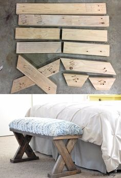 Build and customize for new bedroom. Very cute! Diy Furniture Projects, Diy Wood Projects, Furniture Makeover, Furniture Decor, Home Projects, Furniture Storage, Cheap Furniture, Pallet Furniture, Farmhouse Furniture