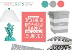 Coral, Teal and Gray in the Nursery - Project Nursery