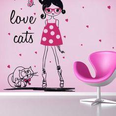 Vinilos Silueta Mujer Love Cats  #vinilos #casa #hogar #vinilosdecorativos
