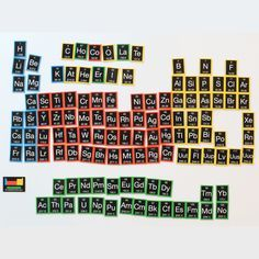 Periodic table postcard size pack of 40 pack of 40 maker bot make words and sentences on your fridge or filing cabinet using this periodic table fridge magnet game what words sentences messages and names can you urtaz Gallery