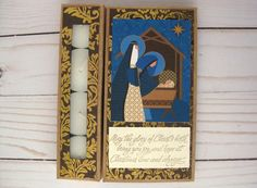 Handmade Nativity Card Religious Christmas card by BellaBoutique23