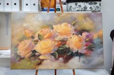 Мастер-класссы | VK Rose Oil Painting, Painting Tips, Art Floral, Modern Art Paintings, Pink Roses, Flower Art, Flower Power, Peonies, Abstract Art