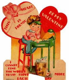 Two Crazy Crafters: Cute Vintage Valentine