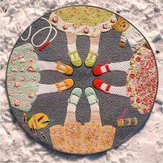 Embroidery hoop dresses