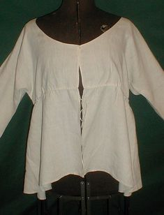 All The Pretty Dresses: Lady's Work Shirt/Jacket Very late 18th Century
