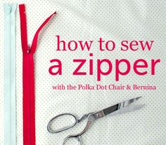 How to Sew a Zipper - Tutorial