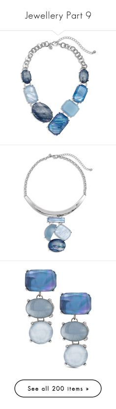"""""""Jewellery Part 9"""" by leanne-mcclean ❤ liked on Polyvore featuring jewelry, necklaces, blue, statement necklace, blue necklace, blue statement necklace, blue bib necklace, blue jewelry, jewelry sets and stackers jewelry"""