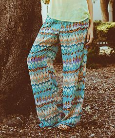 Found some really good deals. Thought I would pass it on...JW - This Blue Zigzag Palazzo Pants by Potter's Pot is perfect! #bornbohemian