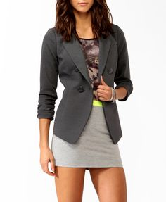 Double-Breasted Longline Jacket | FOREVER 21 - 2008585818