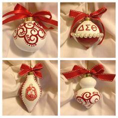 Delta Sigma Theta Christmas ornaments