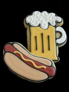 Hotdog & beer cookies