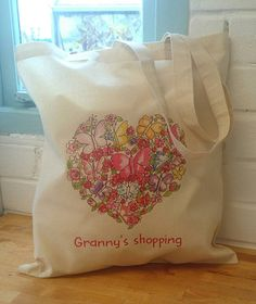 Butterfly Heart. Art Tote Bag. by SueRocheIllustration on Etsy