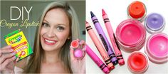 DIY | How To Make Lipstick out of CRAYONS! & DIY Lip Balm