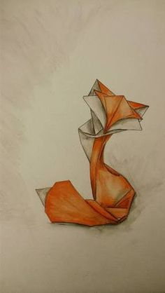 Image result for origami fox tattoo
