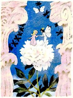 Vintage Russian Edition of Thumbelina at Mulberry Whisper #children #book #illustration