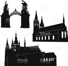 Prague silhouette royalty-free stock vector art