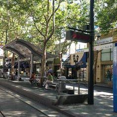 Downtown, San Jose, light rail station - one block away