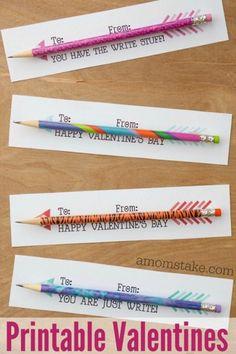 Valentine Pencil Arrows Printable