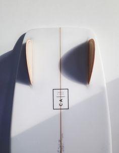 Glassed in wood fins. Shaped in California. saltsurf.com